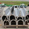 "10"" 304 Stainless Steel U-Troughs made to order to fit a new construction material conveying system."